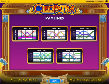 Cleopatra Slot – Paytable 3