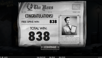 The Invisible Man – Free Spin Win