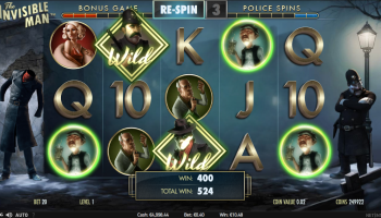 The Invisible Man – Free Spins Round