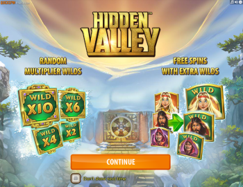 Hidden Valley – Intro Screen