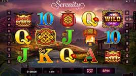 Play Serenity Slot Online